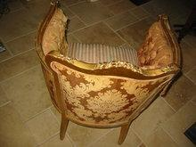 Bergere Louis XVI Style Gold Leaf Arm Chair