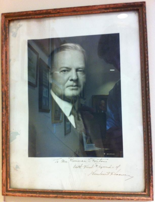 President Herbert Hoover Photo and Signature