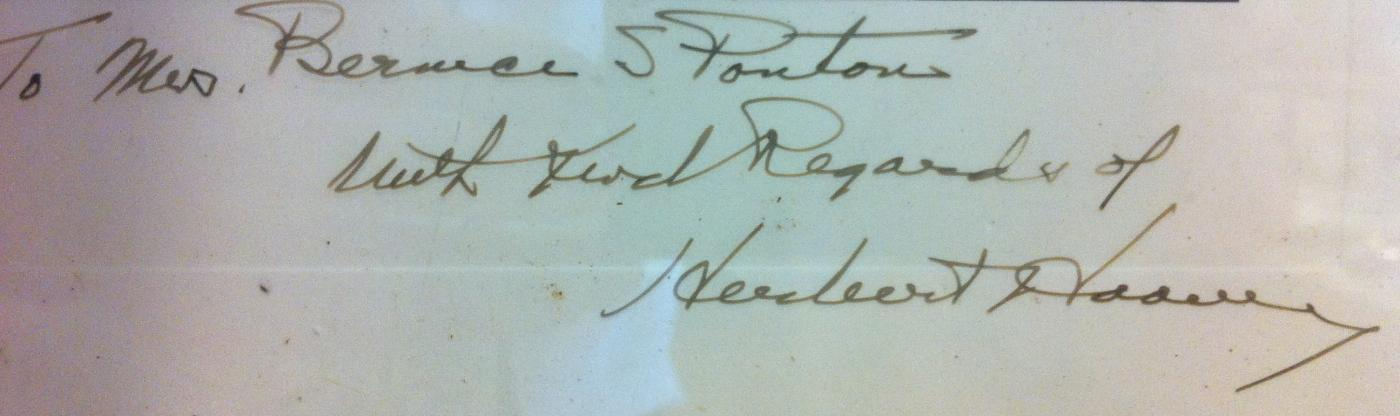President Herbert Hoover Photo and Signature