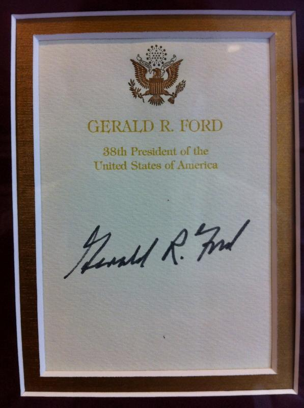 Gerald Ford Signed Bookplate