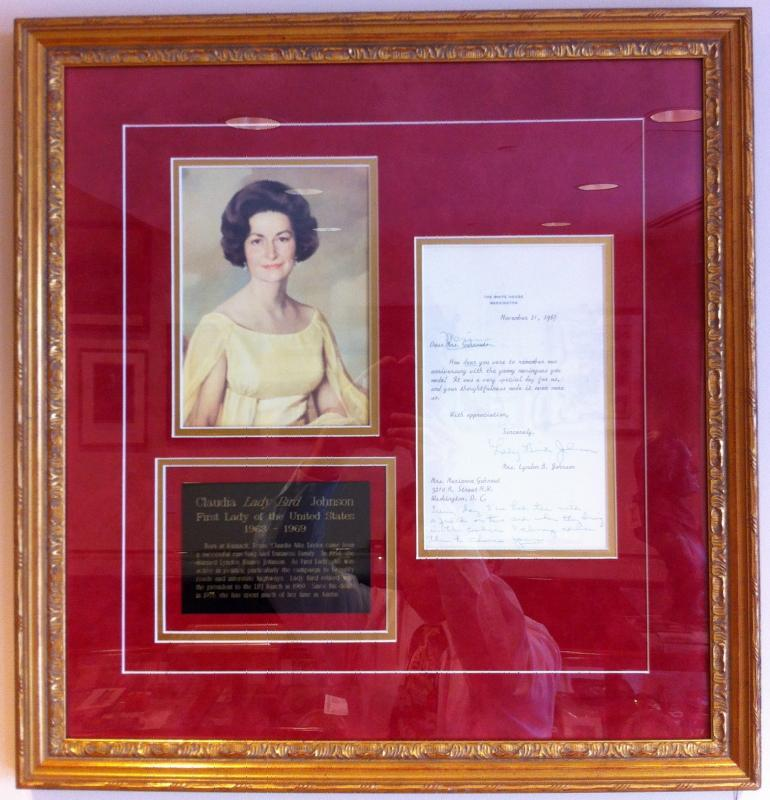 Lady Bird Johnson Signed Letter