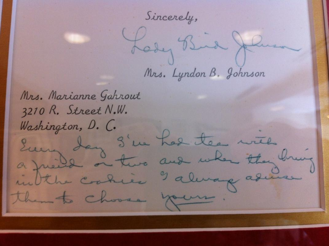 Lady Bird Johnson Signed Letter