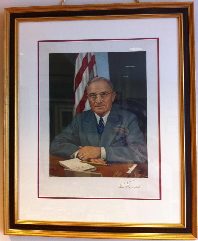 Portrait of President Harry S Truman