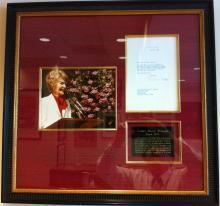 Signed Letter of Nancy Reagan