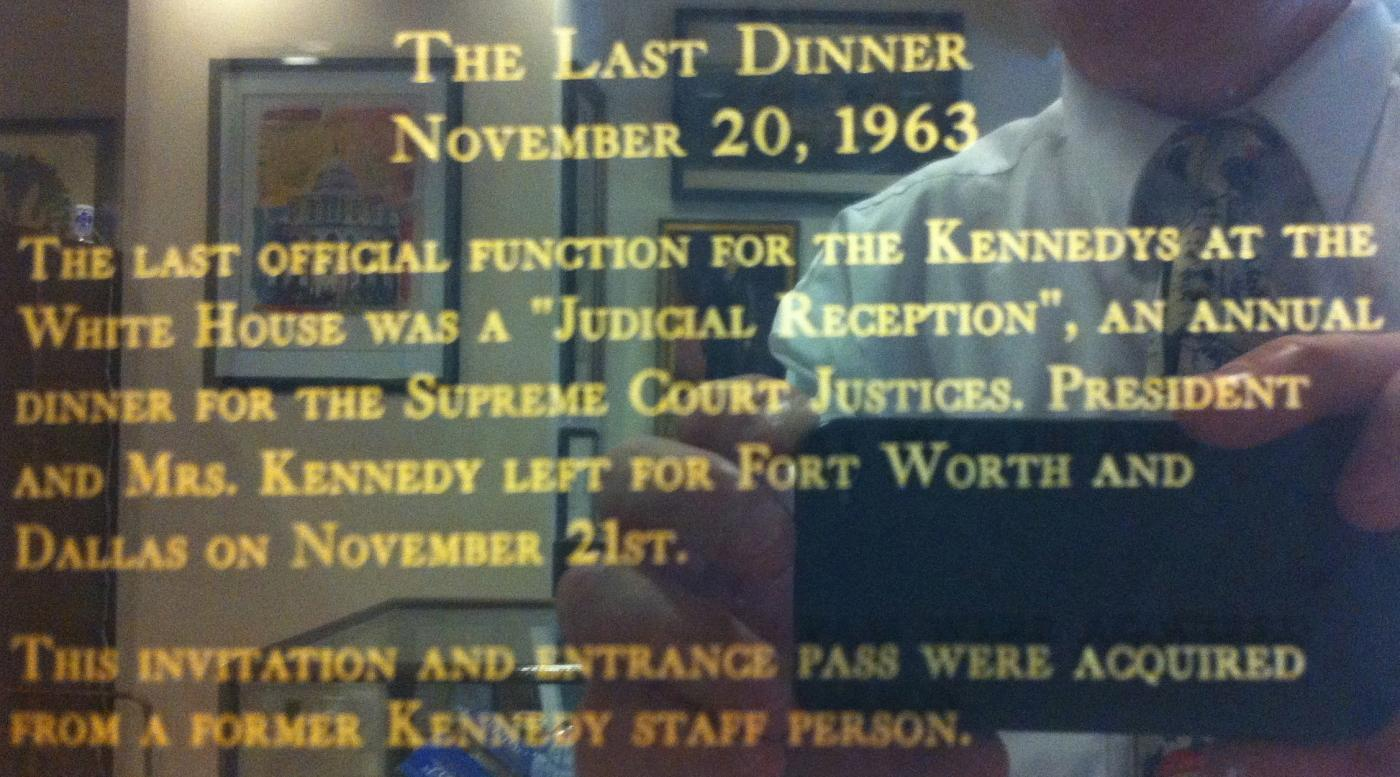 The Last Invitation of John F. Kennedy