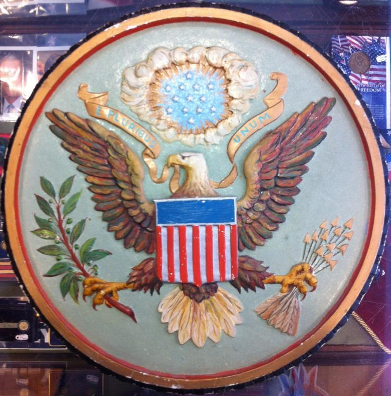 Hand cast plaster Great Seal of the United States