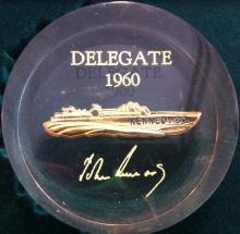 John F Kennedy Delegate Paperweight