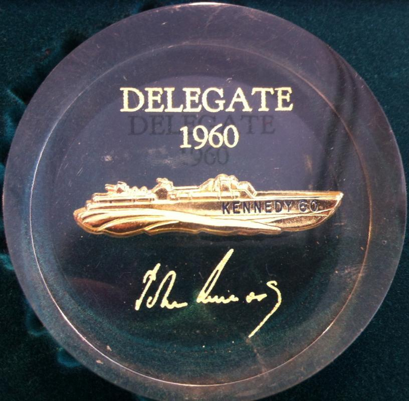 John F Kennedy Delegate Paperweight