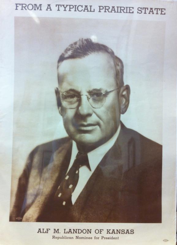 Alf Landon 1936 campaign poster