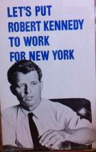 Robert Kennedy Senate Campaign Poster