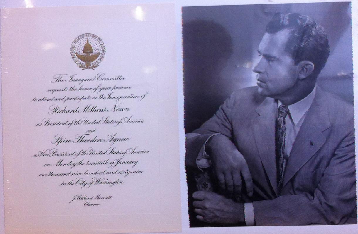 Richard M. Nixon Inaugural Invitation 1969