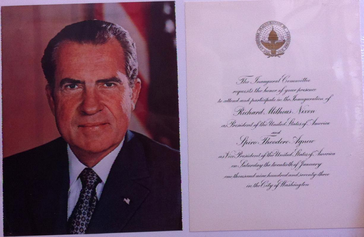 Richard M. Nixon Inaugural Invitation 1973