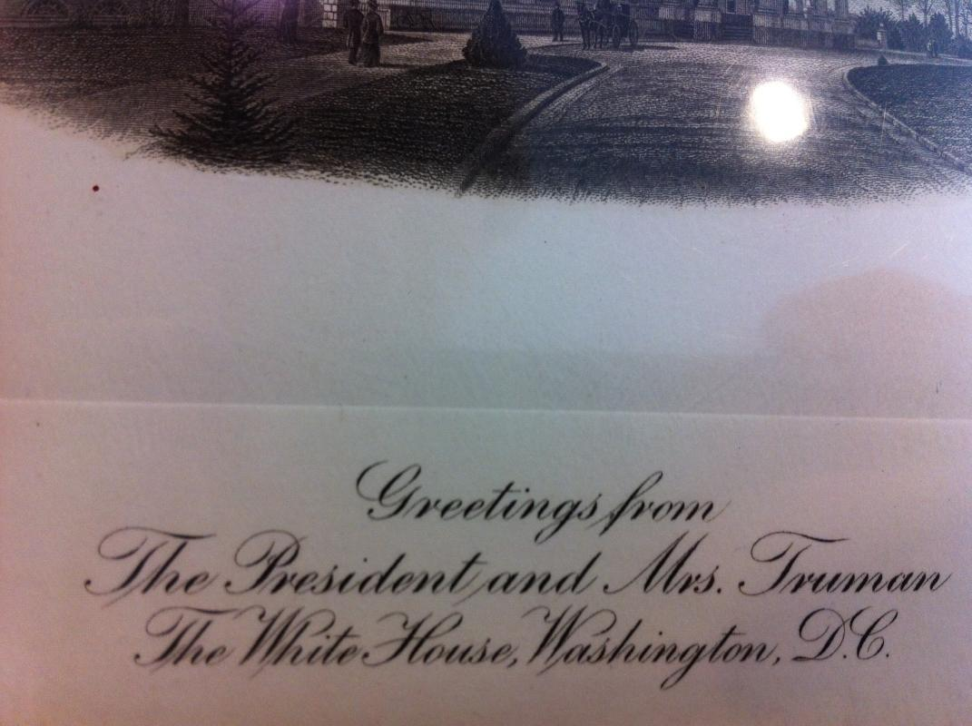 Truman White House Greetings