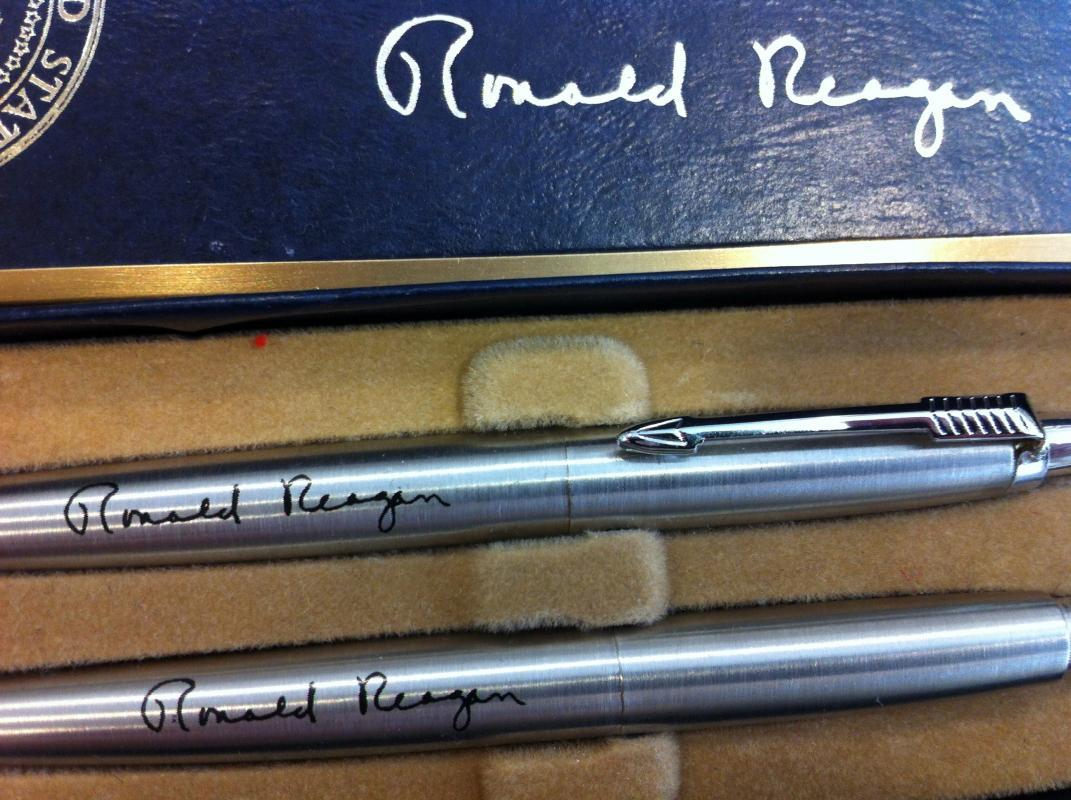 Ronald Reagan Pen and Pencil Set