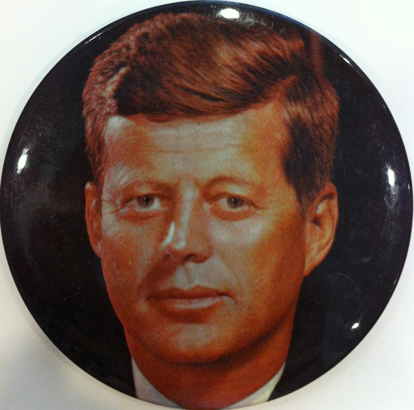 John F. Kennedy photo button