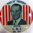 Lyndon B Johnson Campaign Button