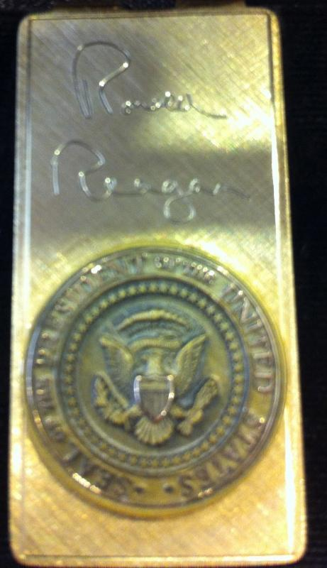 Ronald Reagan Official Gold Money Clip