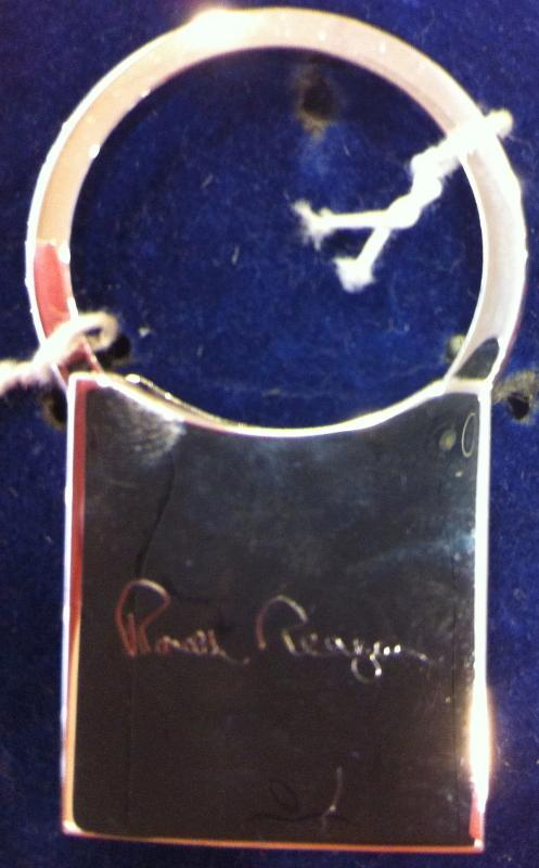 Ronald Reagan Official Silver Key Chain