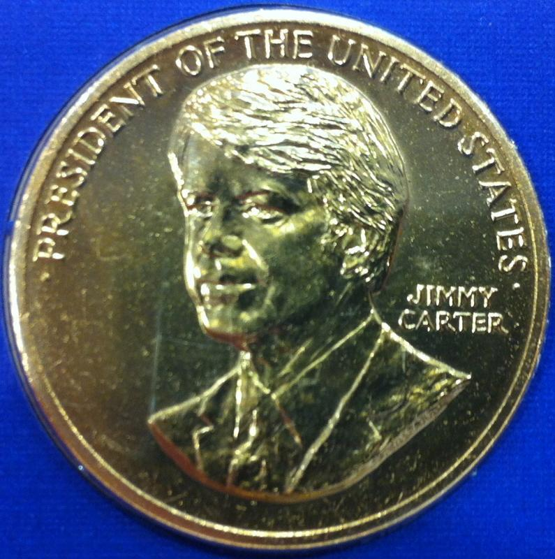 President Jimmy Carter Birthday Coin and Stamp