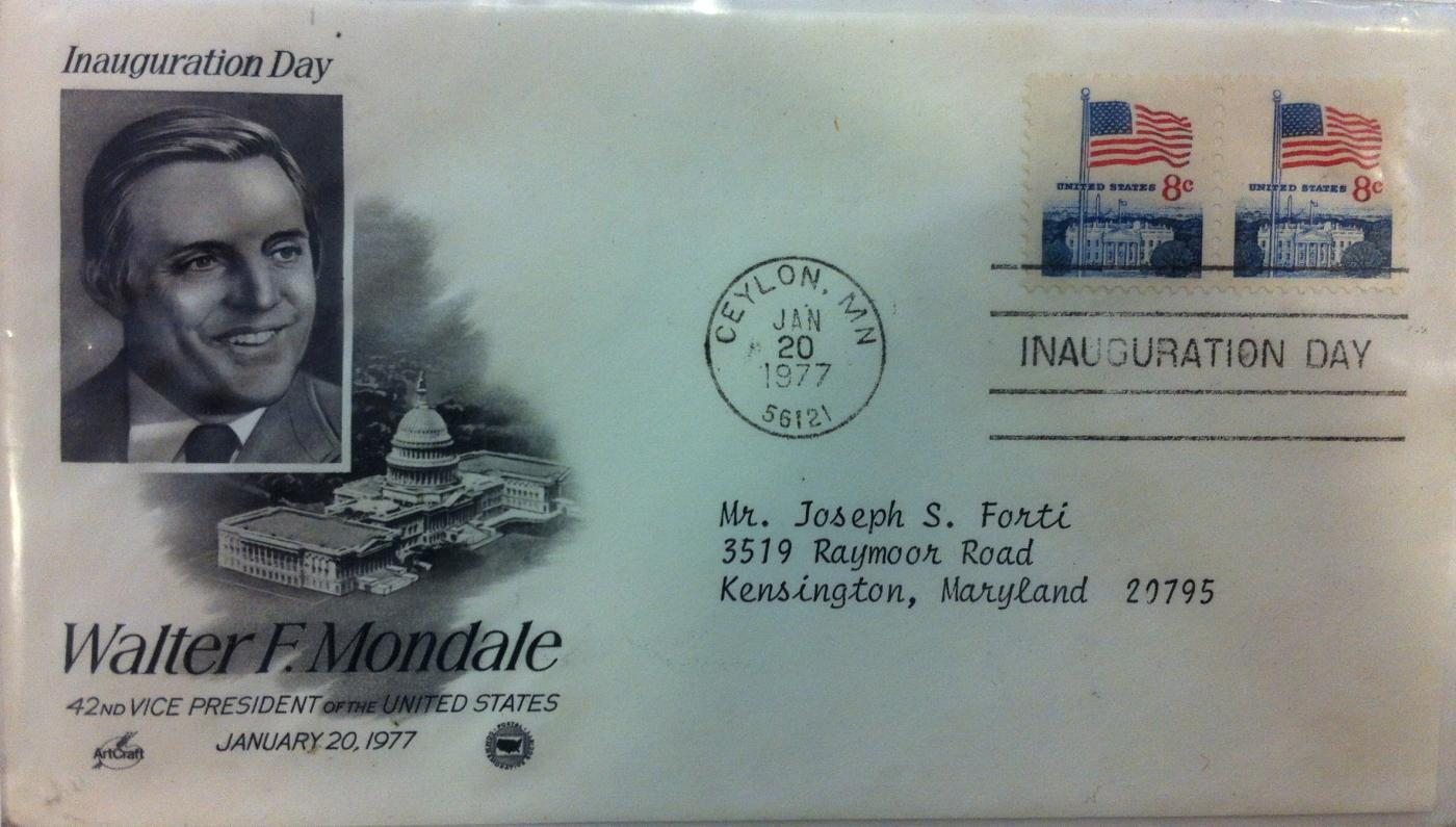 Vice President Walter Mondale Inaugural First Day Cover