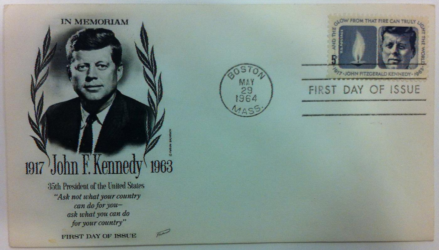 John F. Kennedy Memoriam First Day Cover