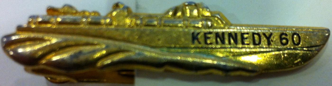 John F. Kenndy 1960 PT 109 tie bar