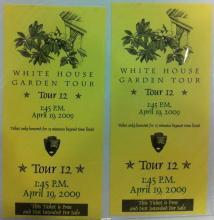 White House Garden Tour Tickets 2009
