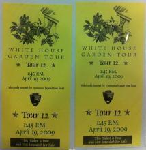 White House Garden Tour Tickets 2009