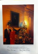 President Bill Clinton White House Christmas Gift Print 1993