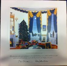 Bill Clinton White House Christmas Gift Print 1995