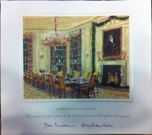 Bill Clinton White House Christmas Gift Print 1998