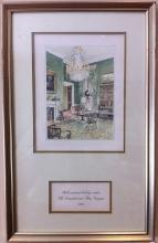 Ronald Reagan White House Christmas Card Gift Print 1983