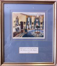 Ronald Reagan White House Christmas Card Gift Print 1985