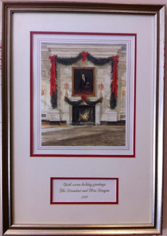 Ronald Reagan White House Christmas Card Gift Print 1987