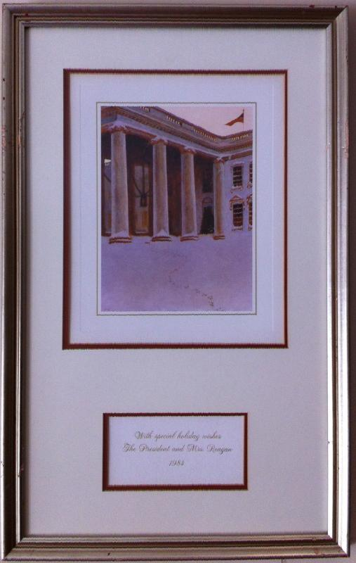 Ronald Reagan White House Christmas Card Gift Print 1984