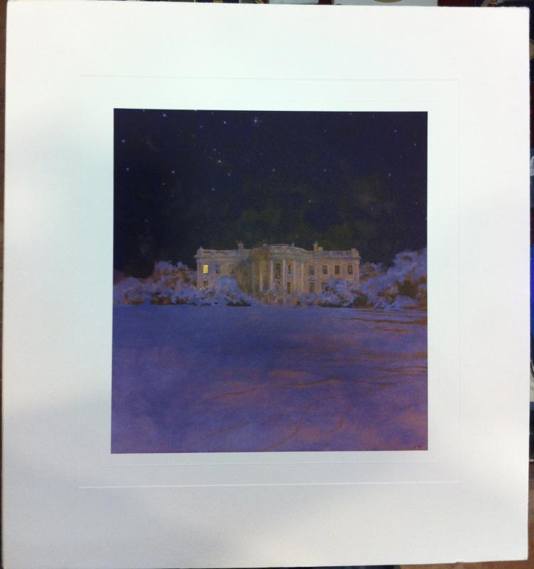 Ronald Reagan White House Christmas Card Gift Print 1981