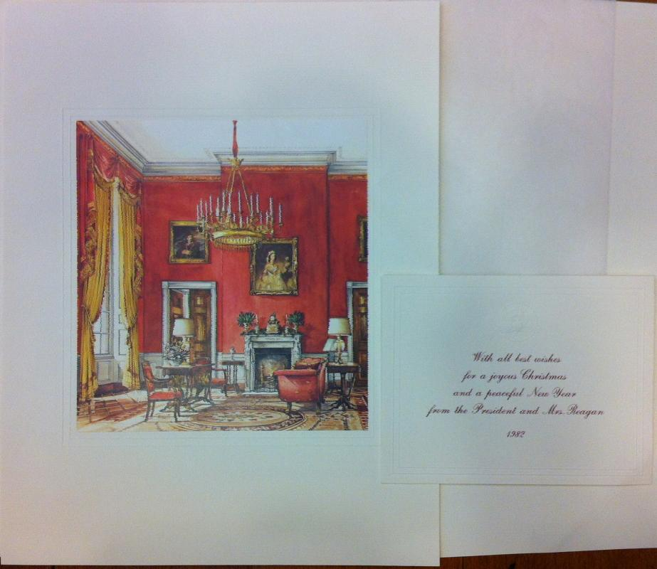 Ronald Reagan White House Christmas Card Gift Print 1982