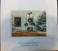 Ronald Reagan White House Christmas Card Gift Print 1986