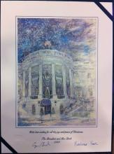 George Bush Sr White House Christmas Gift Print 1989