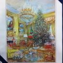George Bush Sr White House Christmas Gift Print 1991