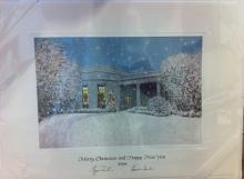 George W Bush White House Christmas Gift Print 2006