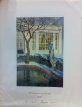 George W Bush White House Christmas Gift Print 2007