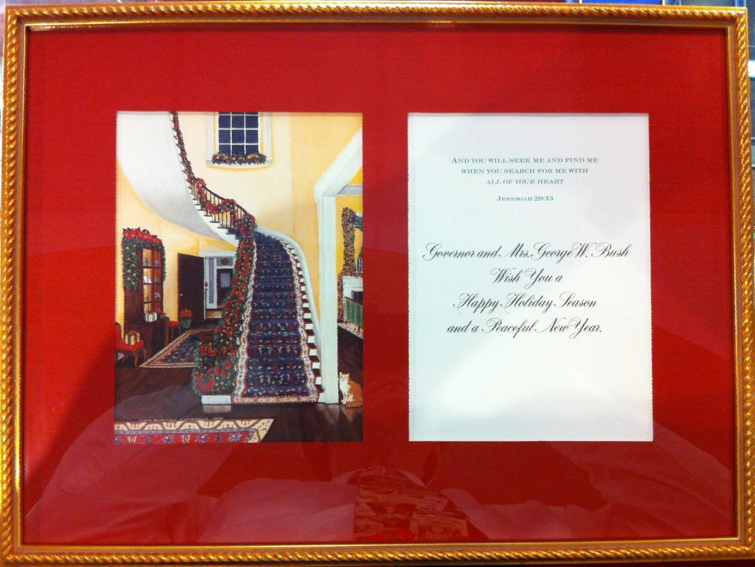 George W. Bush Governor of Texas Christmas Card 2000