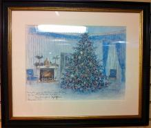 Lyndon B. Johnson White House Christmas Gift Print 1967