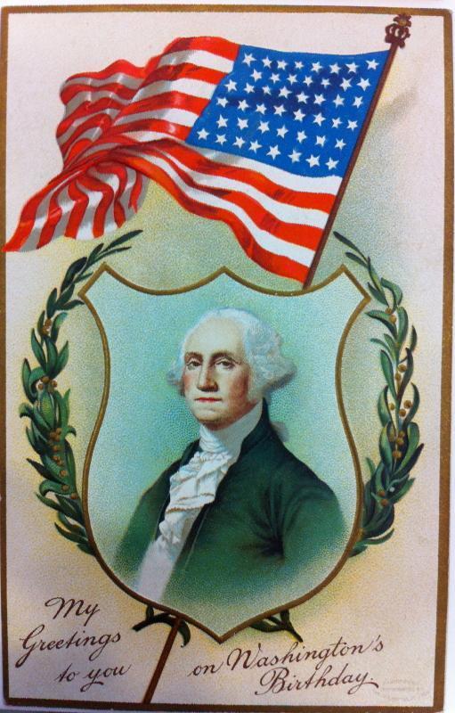 Washington's Birthday Greeting postcard
