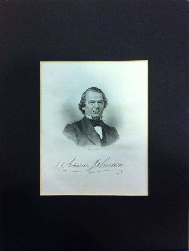 Engraving of President Andrew Johnson
