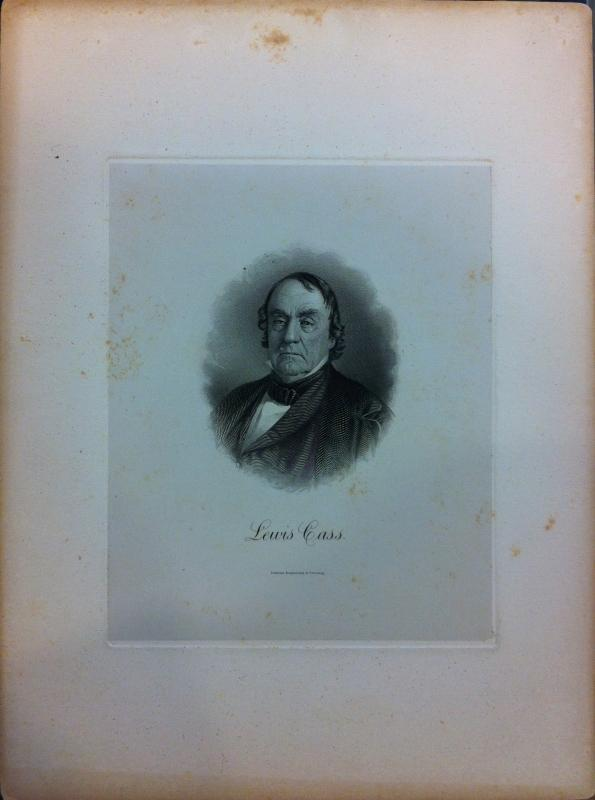 Engraving of Lewis Cass