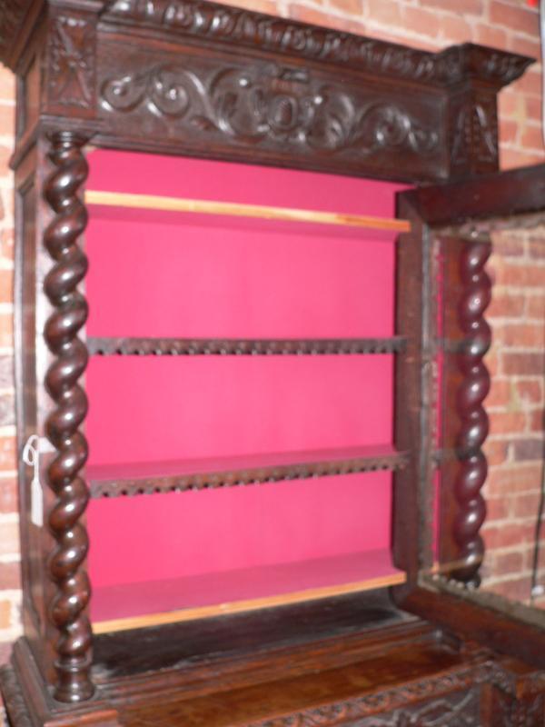 19C Oak Carved Cupboard
