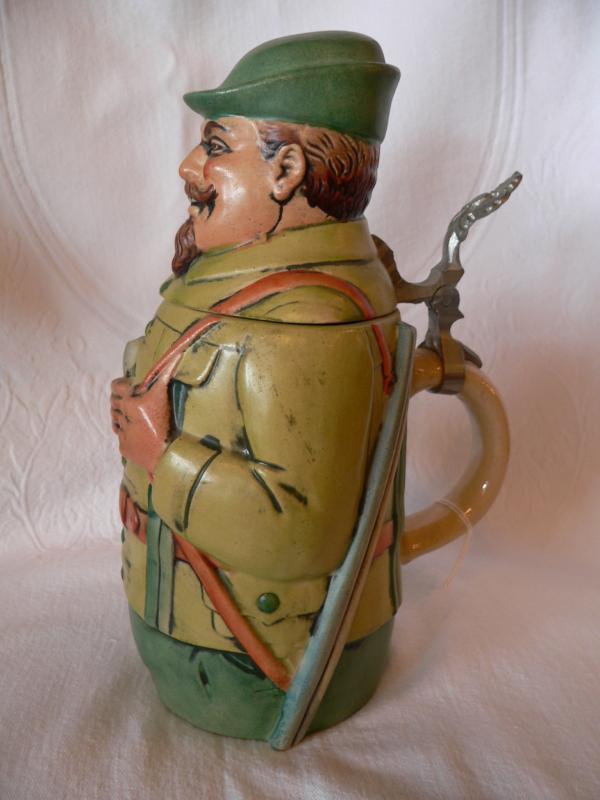 Werner Corzelius Figural Lidded Beer Stein