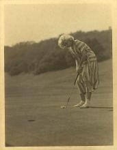 AUTHENTIC DECO ERA JEAN HARLOW GOLFING SHOT BY